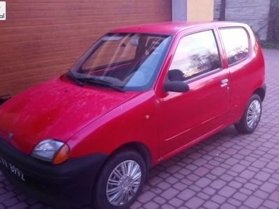 używany Fiat Seicento Seicento (600) 1.1dm3 54KM 1999r. 175 700km1.1 elektryczne szyby
