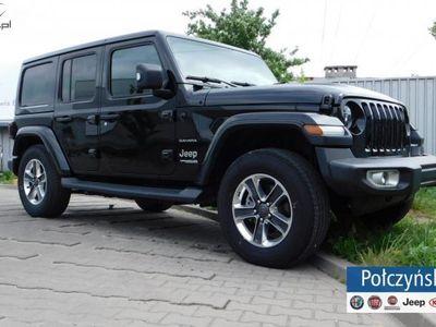 brugt Jeep Wrangler 2dm3 265KM 2018r. 7km JL Unlimited Sahara 2.0 265KM | Nowy Model | Czarny - Solid Black
