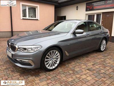used BMW 520 2dm3 184KM 2018r. 24 300km LAMPY FULL LED,Piekna Skóra,Duza NAVI,Podświetlenia LED,FA VAT 23%