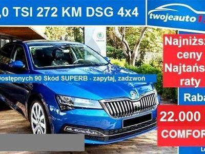 używany Skoda Superb III Ambition Sedan 2,0 TSI 272 KM DSG, 4x4 LED Matrix, Kessy Full,