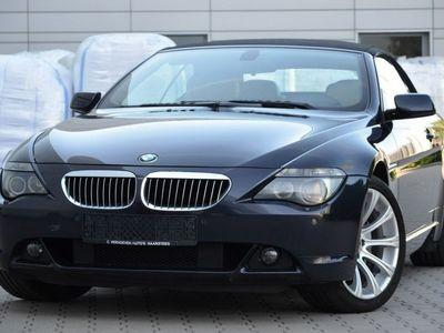 używany BMW 650 Cabriolet seria 6 4.8dm3 367KM 2007r. 263 000km Mega i Opłacone Serwis Skóra Navi 2xPdc Gwarancja