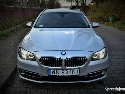 używany BMW 520 LUXURY/ Szklany Dach/ Head Up/ Serwisowany/ F-ra VAT/ Niski Przebieg