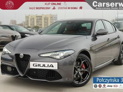 używany Alfa Romeo Giulia Veloce 2.0 280 KM | Grafitowy|Brązowa skóra |Asystent kierowcy| MY20