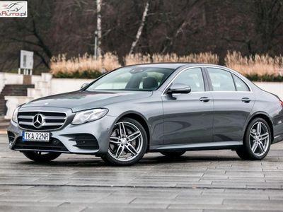 używany Mercedes E220 klasa E 1.9dm3 194KM 2017r. 3 999km9G. COMAND. Kamera. Ambiente. VAT23%