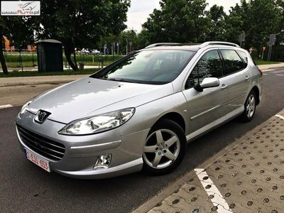 używany Peugeot 407 SW 2dm3 140KM 2009r. 249 000km 2.0hdi lift navi panorama alu pdc
