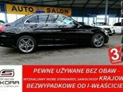 używany Mercedes 220 Klasa C W205 3 LATA GWARANCJA 1WŁ Bezwypadkowy AMG194KM AUTOMAT IDEAŁ FV23%