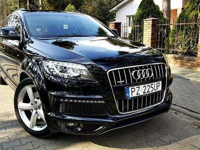 używany Audi Q7 3.0 tdi quottro s-line bose lift led xenon nawi rej.pl dvd