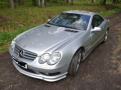 używany Mercedes SL500 2002 srebrny, sprow. z Japonii w 2016, przebieg 81.500km, przygotowany do sezonu, dotykowy panel audio