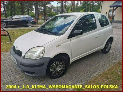 używany Toyota Yaris 2004 r_1.0_Klima_Wspomaganie_Salon Polska_Bardzo Ładna_Opłacona