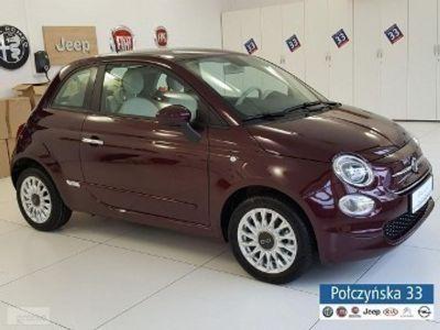 używany Fiat 500 1,2 69 KM Dualogic | wersja Lounge | Pakiet City| Bordowy |2020