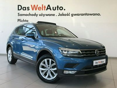 używany VW Tiguan 2.0 TDI 190 KM 4 Motion Highline p. rej. 2017r, Salon Polska FV23% II (2016-)
