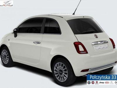 used Fiat 500 1.2dm3 69KM 2019r. 5km 1.2 Lounge 69KM AUTOMAT | Biały Gelato | Abonament od 655 PLN netto