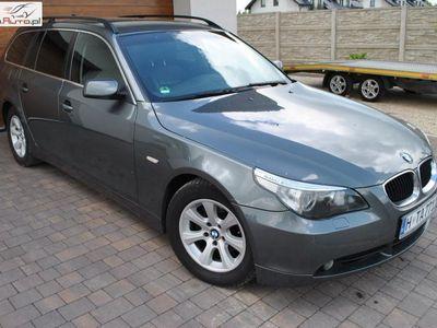używany BMW 525 2.5dm3 177KM 2005r. 259 800km 2.5 z Niemiec panorama skóra czujniki xenon klimatronik 05r.