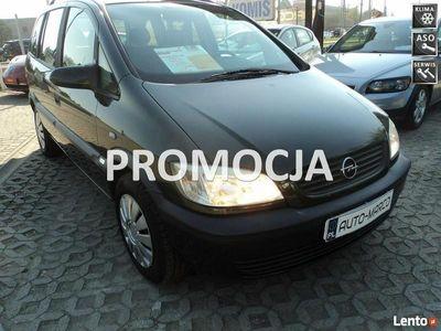 używany Opel Zafira 1.6dm3 101KM 2003r. 211 000km 7 osób benzyna xe ABS ręczna klima.
