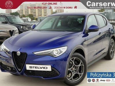 używany Alfa Romeo Stelvio Sprint Q4 2.0 200 KM AT   Niebieski Anodized   Rata od 2199 zł netto
