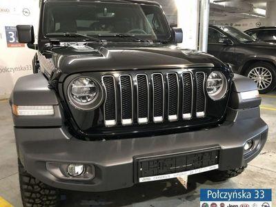 używany Jeep Wrangler 2dm3 265KM 2019r. 2km JL Rubicon 2.0 265KM Benzyna   Czarny / Czarna skóra   2019
