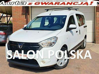 używany Dacia Dokker TYLKO 19 tys km 1.6SCE 102KM, Laureate, Salon PL Serwis ASO, F.VAT23%,