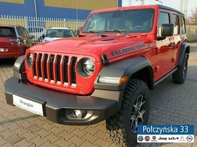 używany Jeep Wrangler JL Unlimited Rubicon 2.0 272 | Czerwony / Czarna skóra | KAMERA PRZÓD