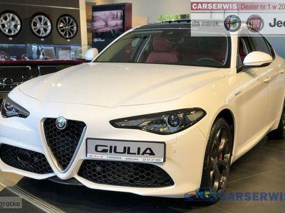 używany Alfa Romeo Giulia Veloce 2.0 280 KM   Biały / Bordowe skóry   PANORAMA