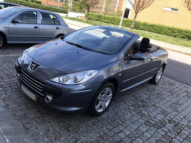 sold peugeot 307 cc cabrio 05 carros usados para venda. Black Bedroom Furniture Sets. Home Design Ideas