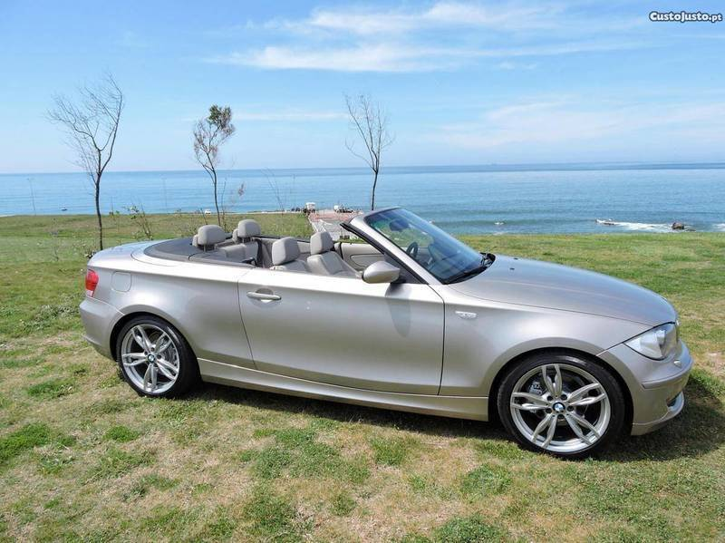 sold bmw 120 cabriolet d champagne carros usados para venda. Black Bedroom Furniture Sets. Home Design Ideas