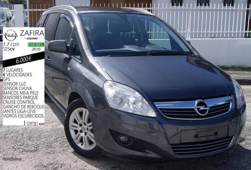 sold opel zafira 1 7 cdti 125cv 7l carros usados para venda. Black Bedroom Furniture Sets. Home Design Ideas
