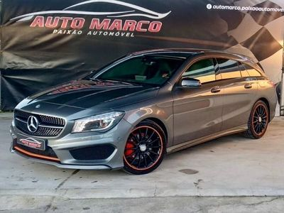usado Mercedes CLA220 Shooting Brake d AMG Orange Art Edition