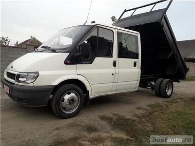 second-hand Ford Transit BASCULABIL 2.4 TDI cabina DUBLA 6+1 locuri