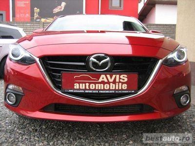 second-hand Mazda 3 2.2 TDI SKYACTIVE-D 150 CP 2015 REVOLUTION, LED,XENON,NAVI,PIELE,ACC,BOSE,TVA DEDUCTIBIL