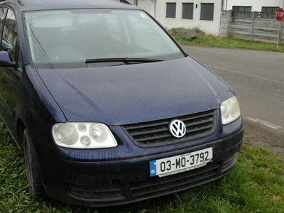 second-hand VW Touran 2004 1.9 tdi adus pe roti pe dreapta irlanda