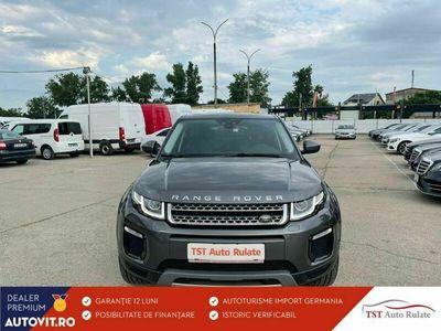 second-hand Land Rover Range Rover evoque 2018 2.0 Diesel 150CP Automată, 65.000 km, SUV