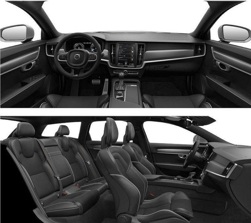 Såld Volvo V90 D5 AWD R-Design Sna., Begagnad 2017, 0 Mil
