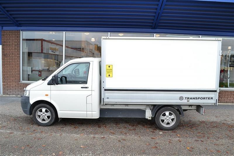 vit skåp bil ~ såld vw transporter pick up tdi fl, begagnad 2005, 9075