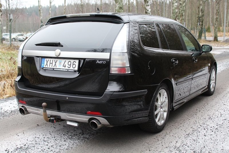 s ld saab 9 3 aero 2 8t v6 navi 20 begagnad 2006. Black Bedroom Furniture Sets. Home Design Ideas