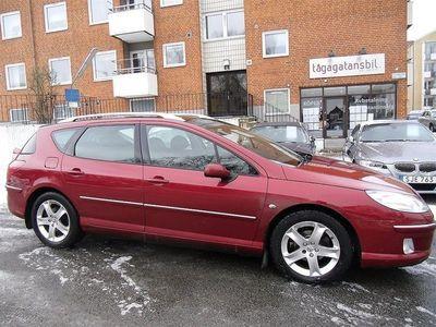 begagnad Peugeot 407 2,0 HDI FAP AUT 6 Stegs Glastak