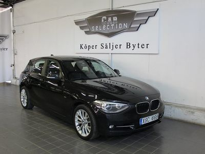 begagnad BMW 120 D-Sport line 184hk-NY-BESIKTIGAD