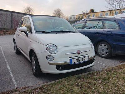 begagnad Fiat 500C Lounge cab ny kamrem vinterhjull