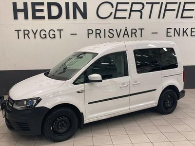 begagnad VW Caddy 2,0 TDI Bluemotion, Automat, Dragkrok 2018, Minibuss 194 900 kr