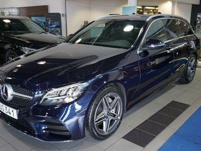 begagnad Mercedes C220 220d kombi // AMG Line // Dragkrok