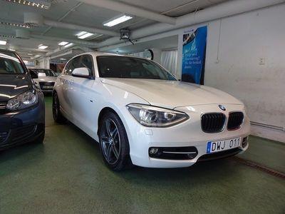 begagnad BMW 120 D Sport line P-Sensorer En ägare -13