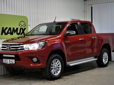 begagnad Toyota HiLux *SÖNDAGSÖPPET 24/11* Double Cab 2.4 D| 4WD| Aut |D-Värmare| Drag|