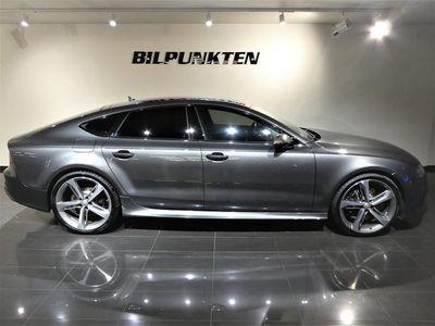 begagnad Audi RS7 4,0TFSI MATRIX MILLTEK Bang&Olufsen faceli-Svensksåld