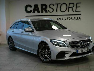 begagnad Mercedes 200 C-Klassd T AMG line Dragkrok LED strålkastare