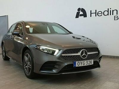 begagnad Mercedes A250 AE // demo bil // AMG line // Advantage paket // Widescre