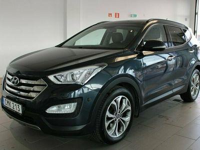 begagnad Hyundai Santa Fe 2.2CRDi 4WD Skinn / Panorama / Navi 197hk