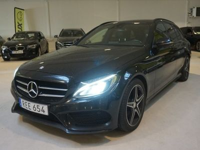 begagnad Mercedes C220 T AMG Night Package Drag