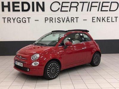 begagnad Fiat 500C 1,2 LOUNGE CARPLAY V-HJUL 2019, Halvkombi 139 900 kr