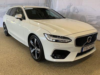begagnad Volvo V90 D4 R-Design, ader, On call, Parkeringskamera 360°, Head Up Display, Navigation, Smartphone Integration 2019, Kombi 389 500 kr