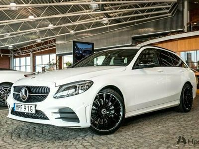begagnad Mercedes C200 C Benzd AMG NIGHT & DRAGKROK 2021, Kombi Pris 414 900 kr