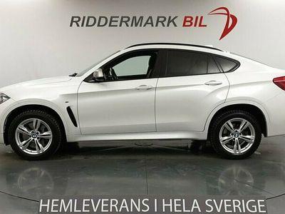 begagnad BMW X6 M50d Navi Skinn Nightvision B&O D-värm Taklucka 360° 2016, SUV 429 800 kr